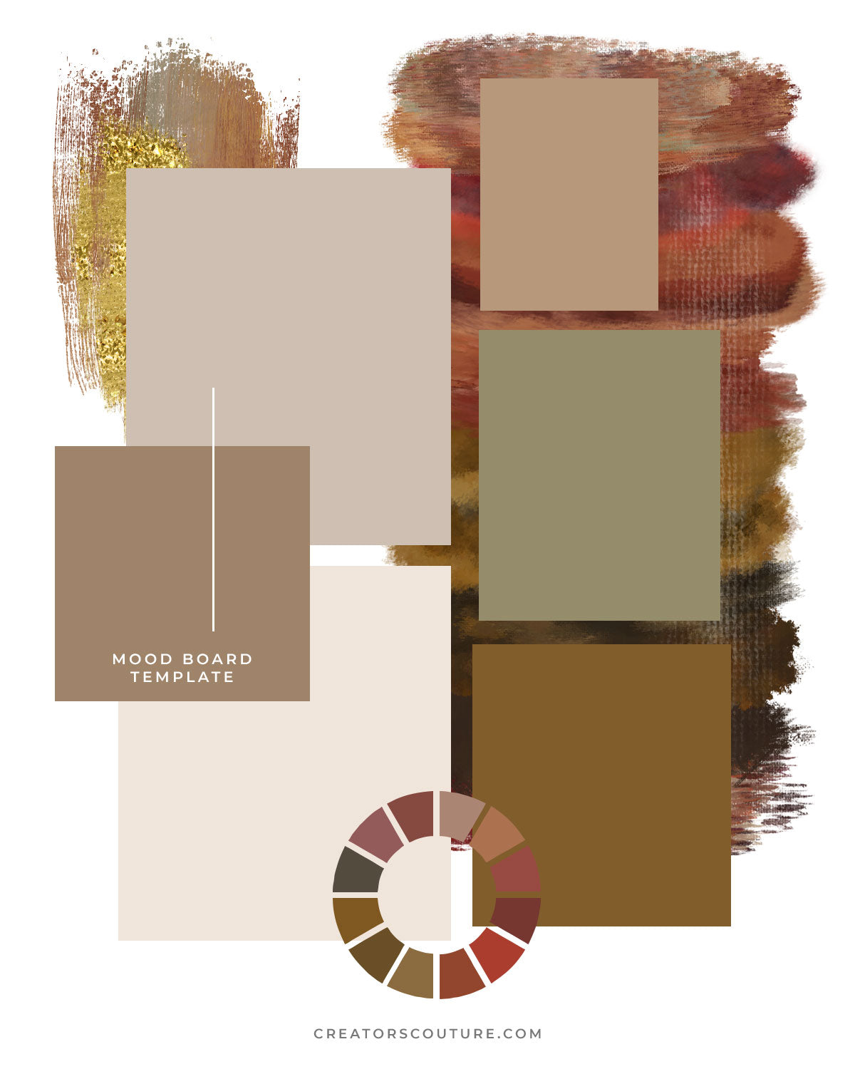 mood board template inspired by Dior color palette - download