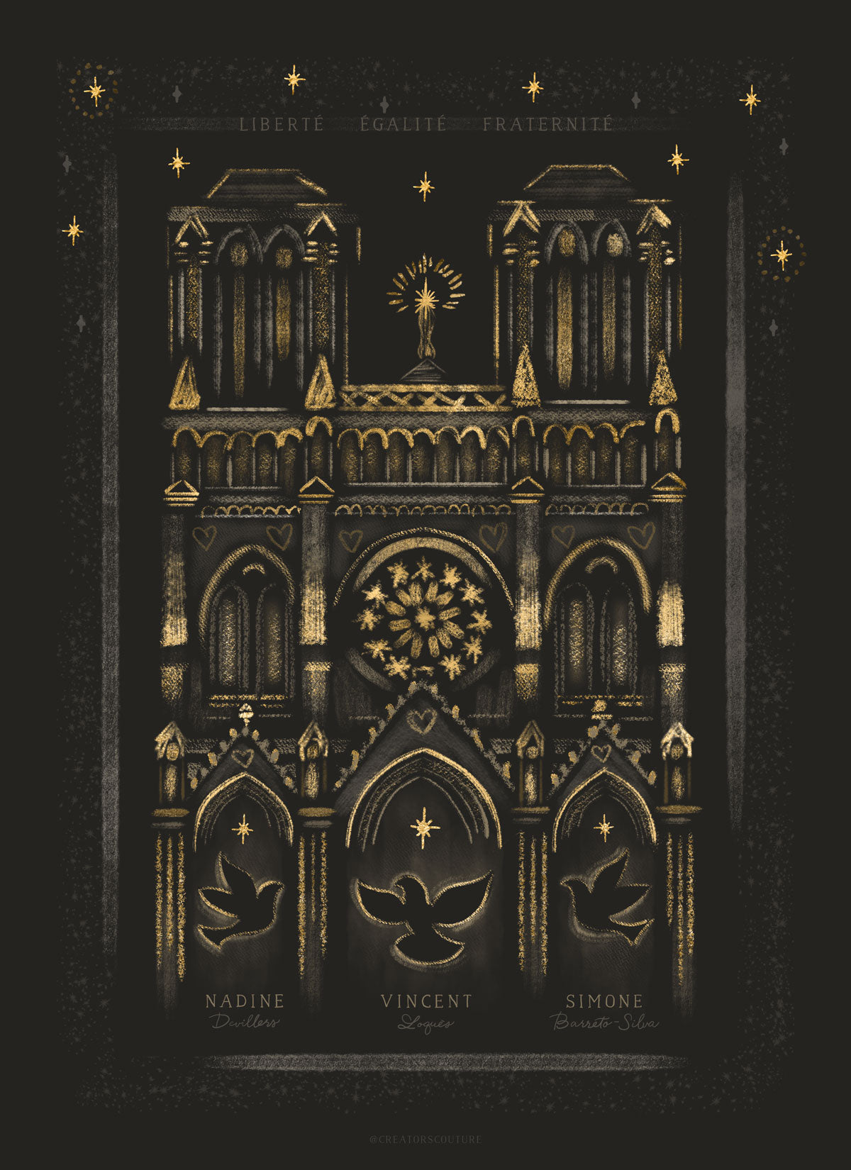 notre dame Nice remembrance artwork