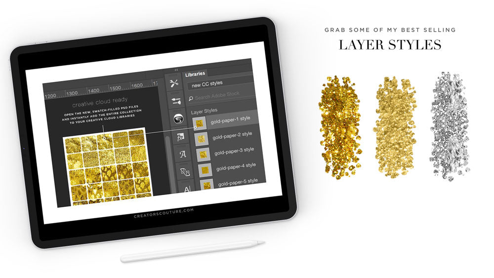 photoshop layer styles gold sampler