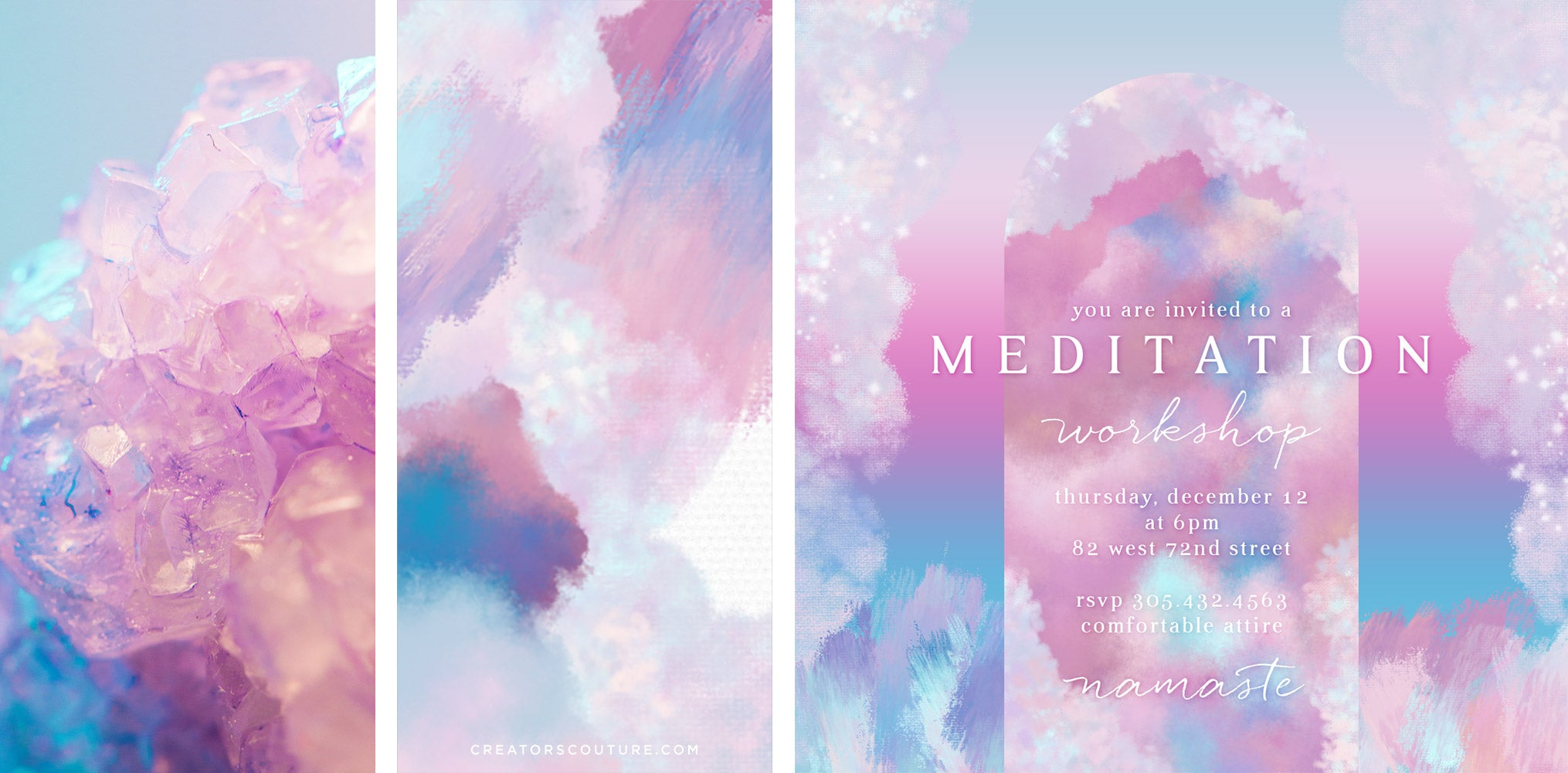 photoshop multi-color brush strokes in action - flyer sample