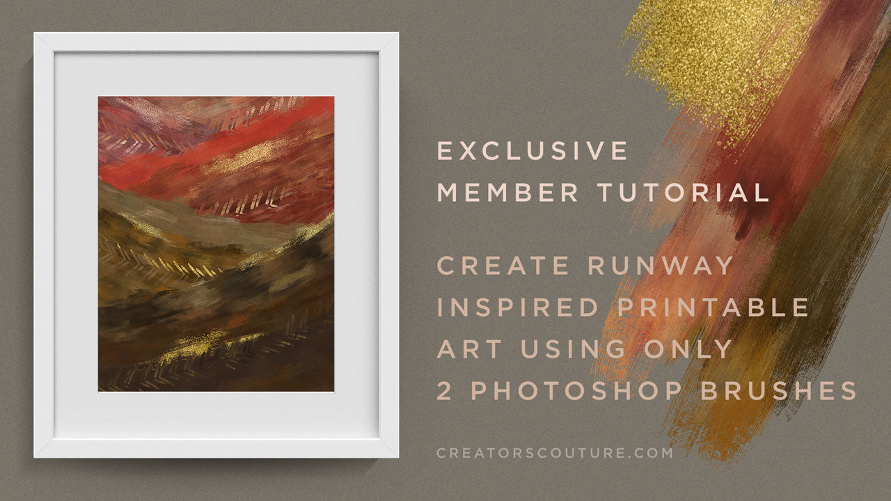 Photoshop Tutorial- Create Runway Inspired Printable Artwork using 2 Photoshop Brushes