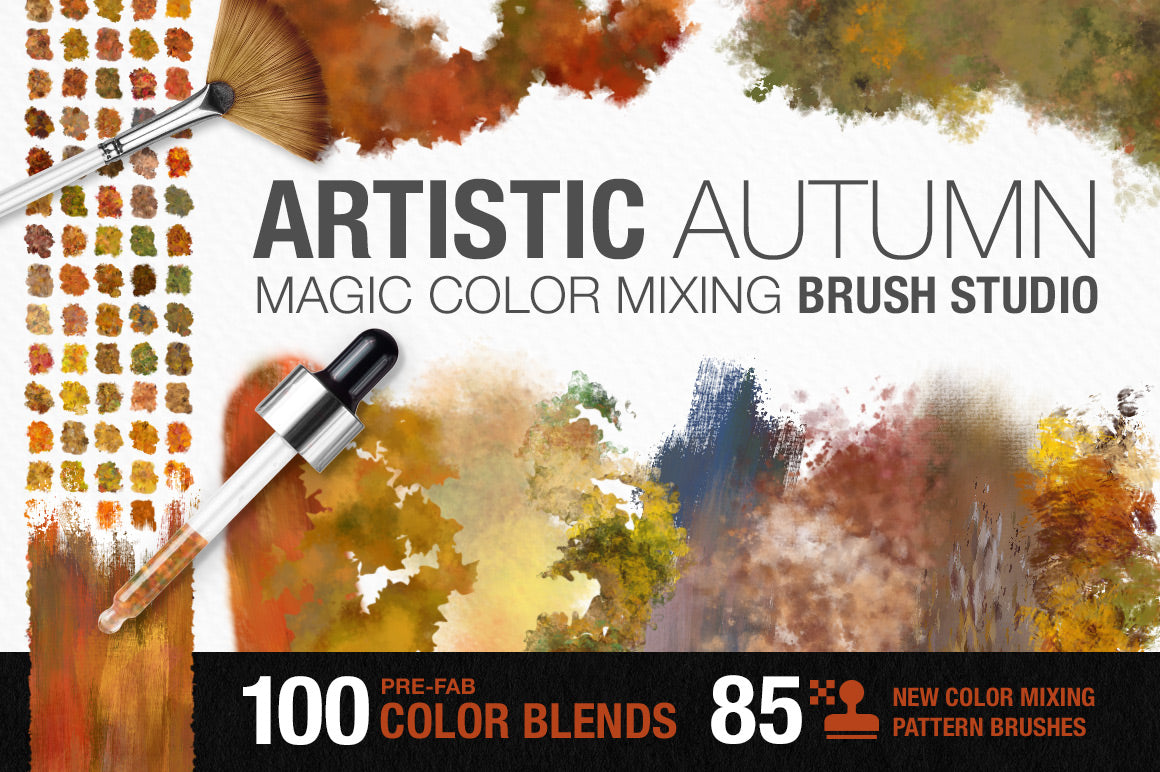 artistic color-blending photoshop brushes cover image