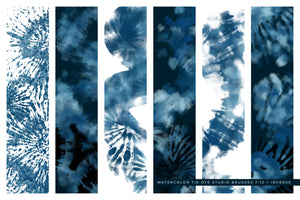 tie-dye multi-color photoshop brushes shibori blue brush preview