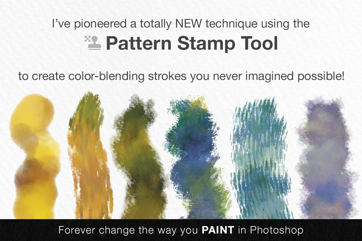 Impressionist Masters Color Blends Palette Collection & Photoshop Brush Sampler, preview of brush strokes