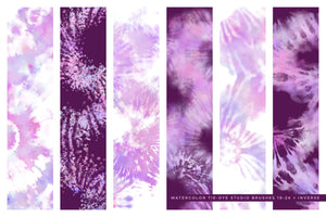tie-dye multi-color photoshop brushes, purple brush preview