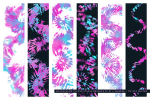 tie-dye multi-color photoshop brushes preview 3