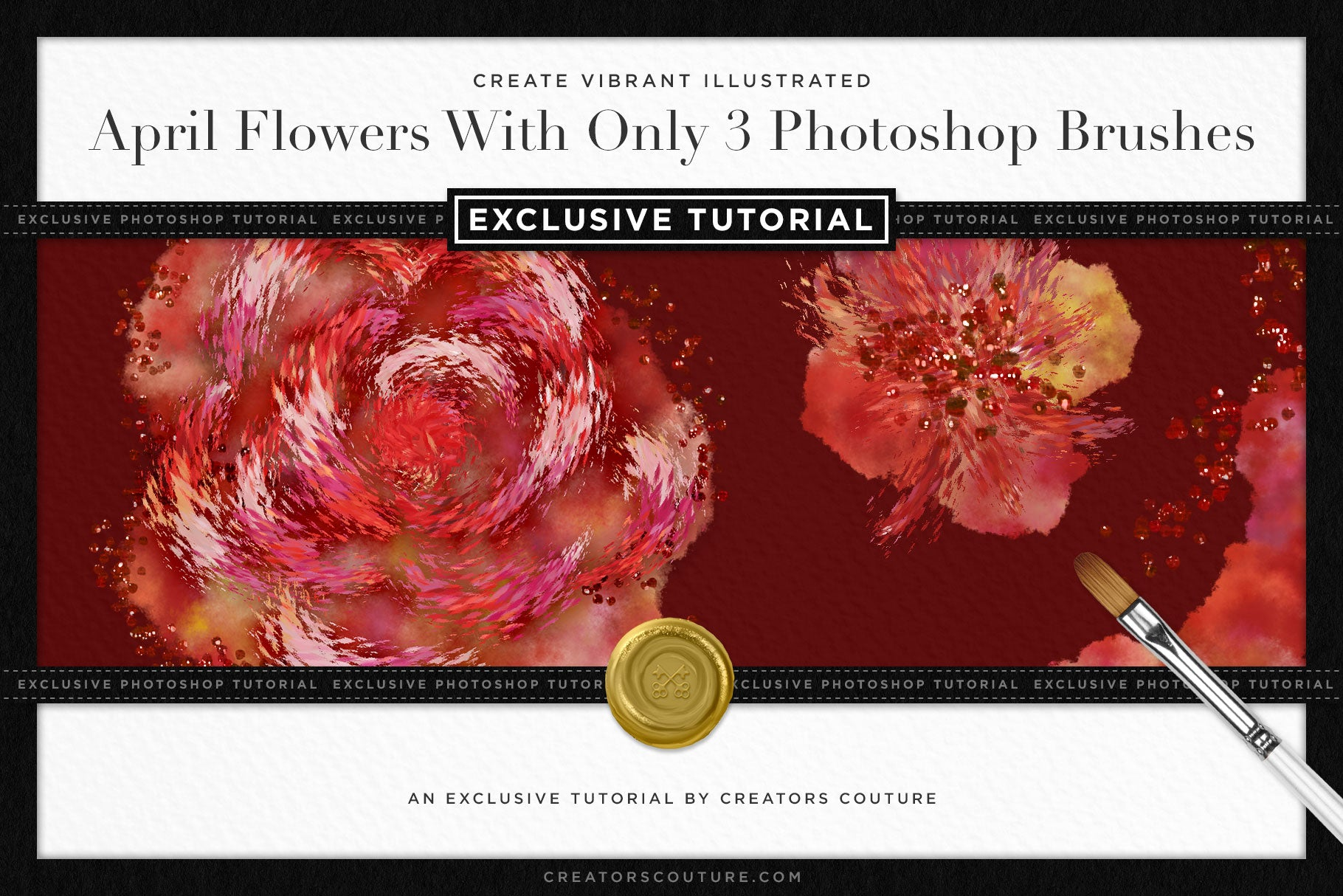 How to Illustrate Vibrant April Flowers with 3 Photoshop Brushes | Exclusive Photoshop Tutorial - Creators Couture