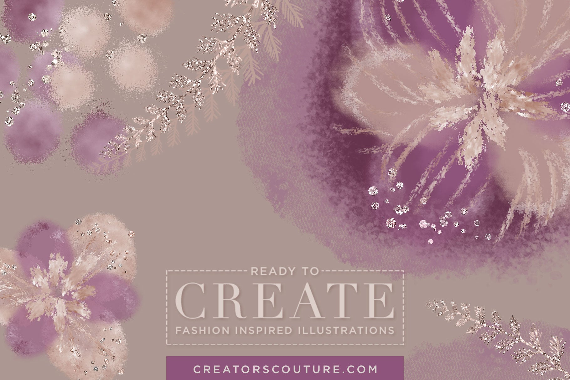 Delicate Floral & Fern Fantasies 2: Digital Clipart / Stock Illustration - Creators Couture