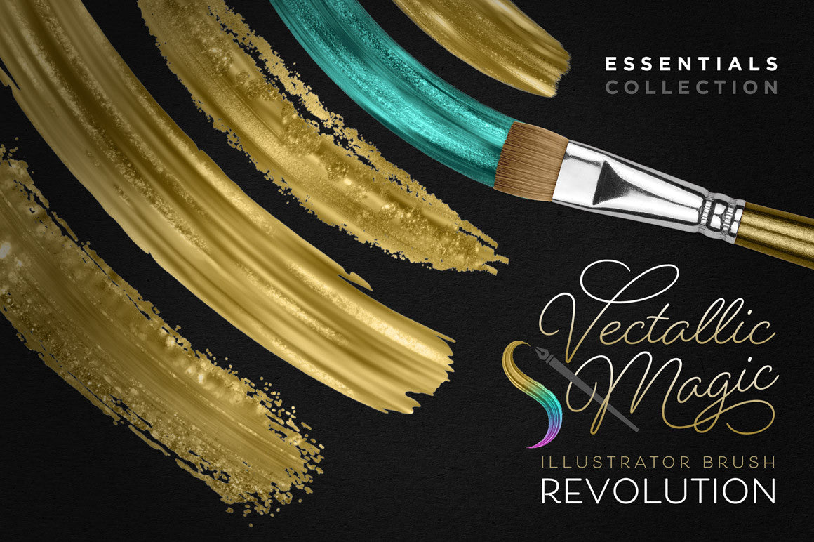Vectallic Magic Illustrator Brush Revolution: The Essentials Collection - Creators Couture