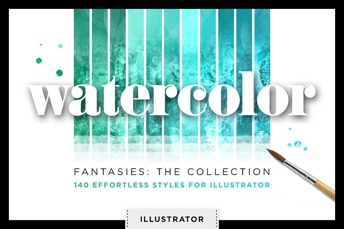 Watercolor Fantasies for Adobe Illustrator - Creators Couture