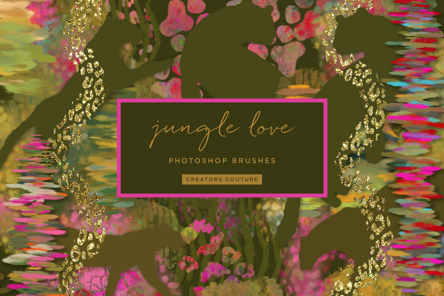 Jungle Love Exotic Animal Print Photoshop Brushes - Creators Couture