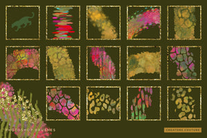 Exotic Leopard & Animal Print Color-Blending & Stamp Photoshop Brushes, brush previews 2