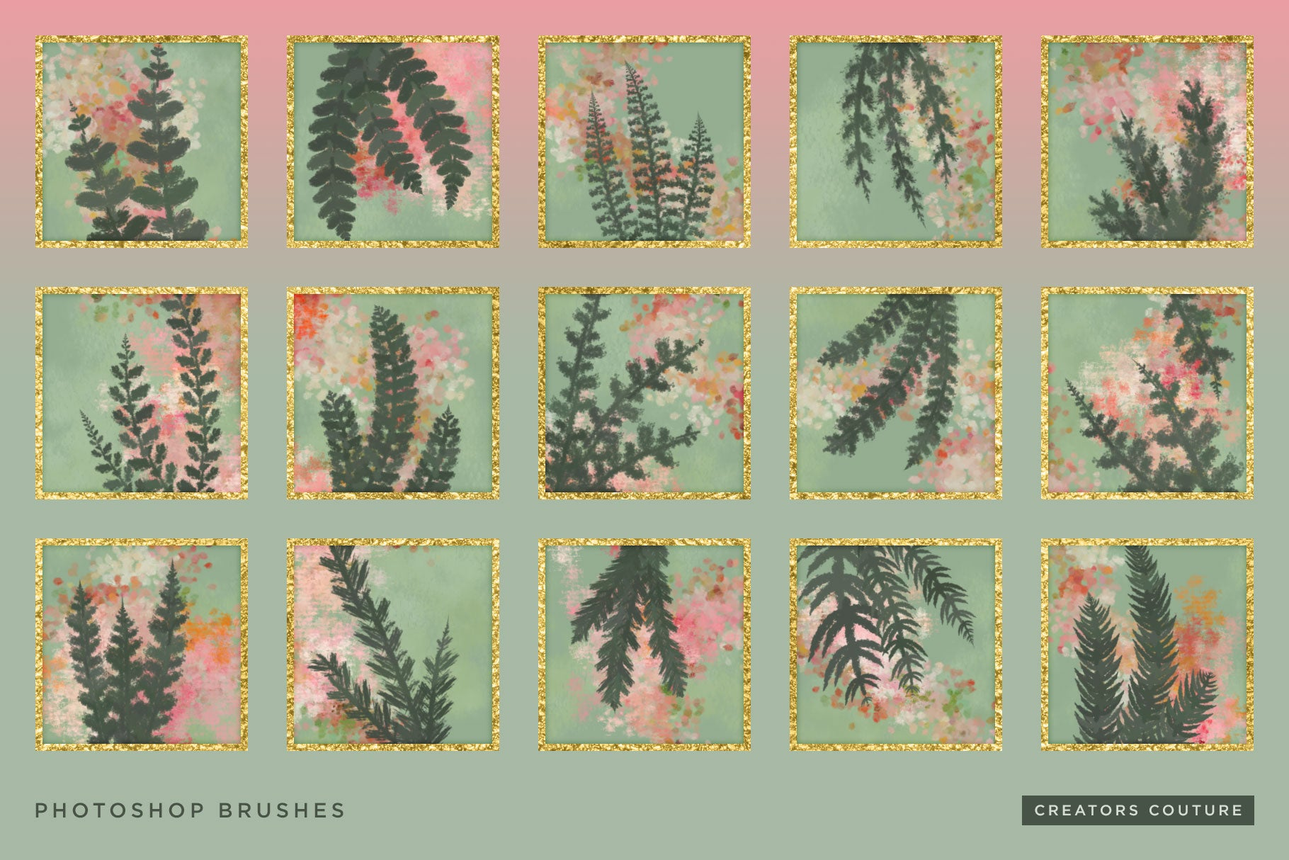 Wild and Free Botanical Pattern Photoshop Brushes - Creators Couture