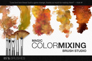 artistic color-blending photoshop brushes brush demo