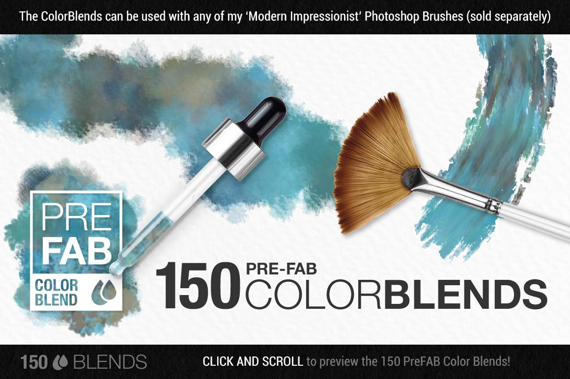 Colors of the Côte d'Azur Impressionist Photoshop Brush Color Palettes color blends preview