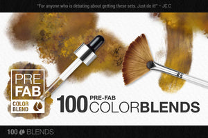 artistic color-blending photoshop brush color palette