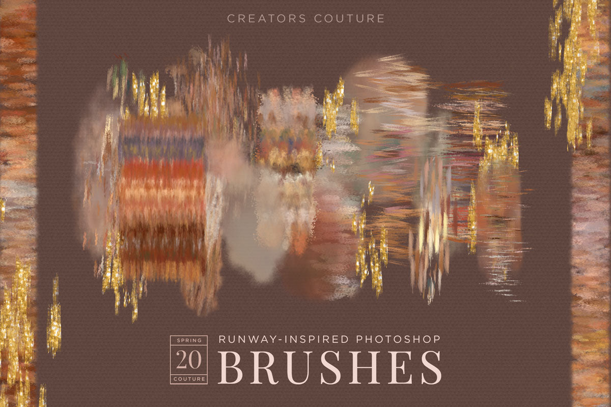 Fabric, Fiber, and Textile inspired Color-Blending Photoshop brushes