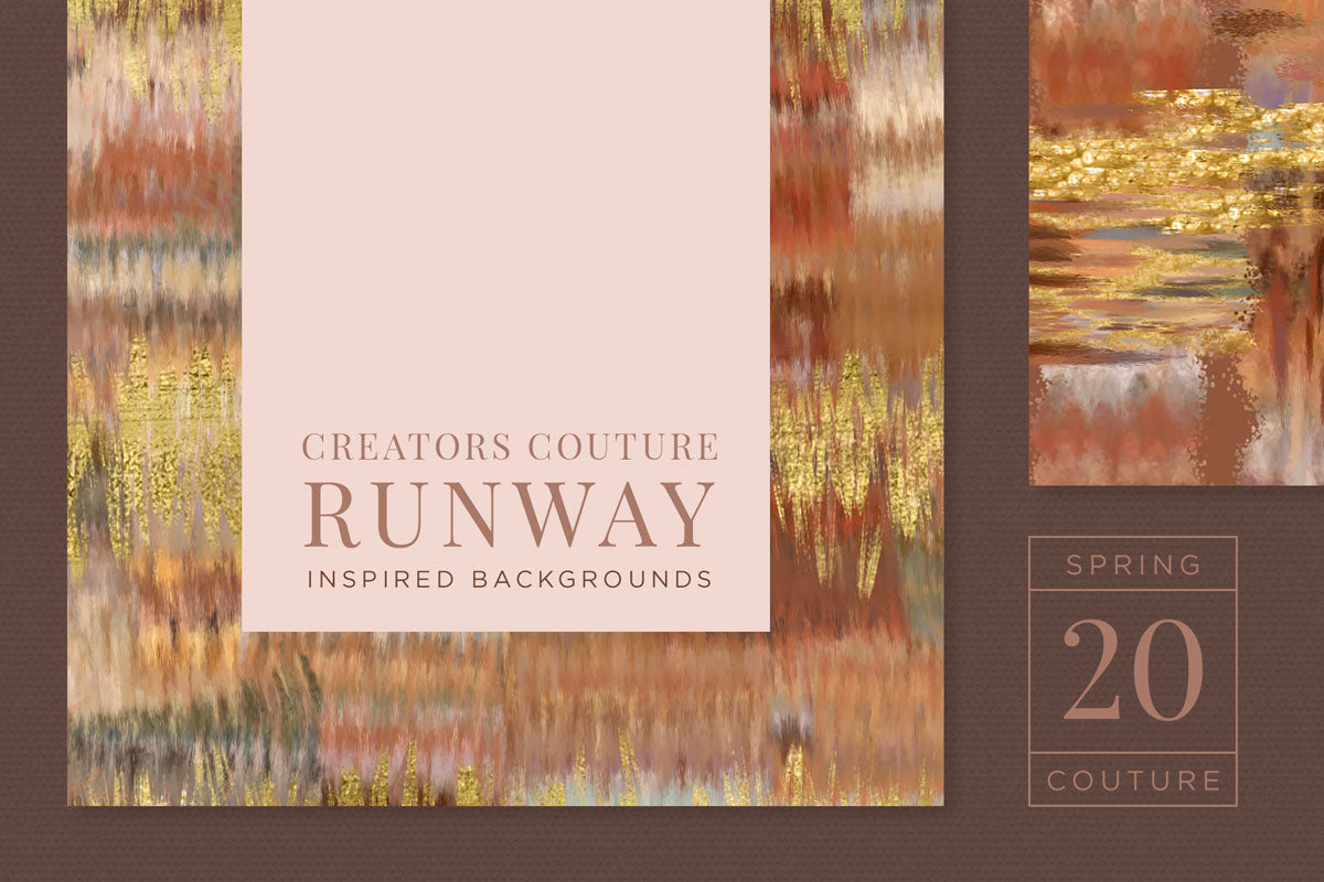 Earthy, Couture-Inspired Textile Digital Papers, cover image