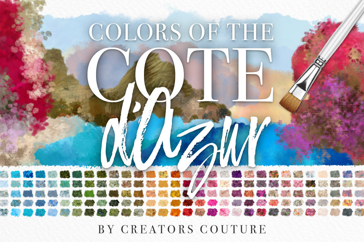 Colors of the Côte d'Azur Impressionist Photoshop Brush Color Palettes, cover image