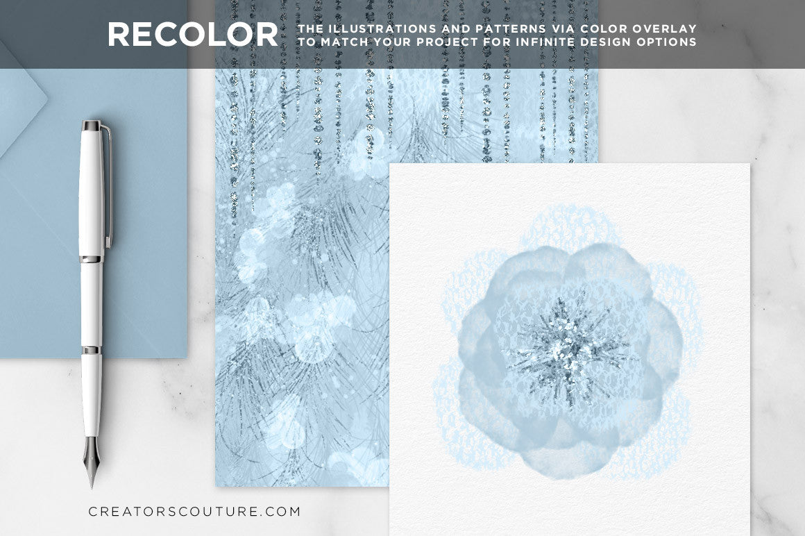 Feathery Flowers | Couture Design Kit - Creators Couture