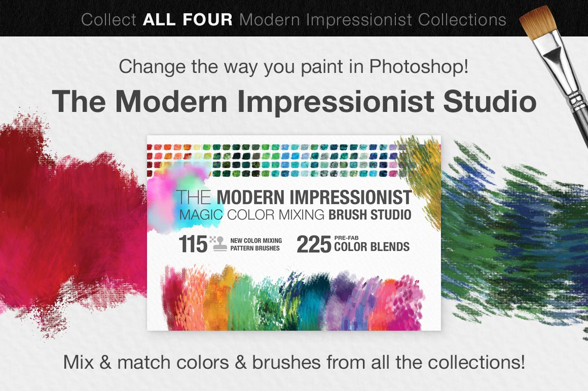 Colors of the Côte d'Azur Impressionist Photoshop Brush Color Palettes, sales image