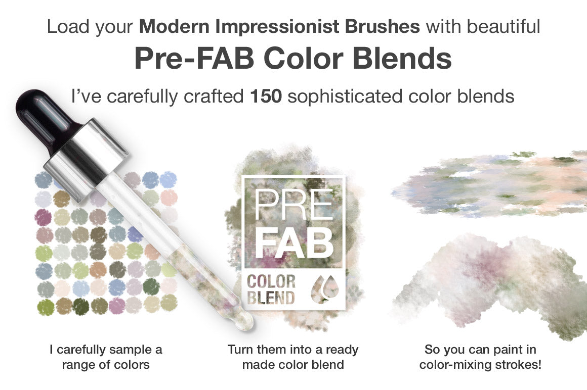 Colors of the Côte d'Azur Impressionist Photoshop Brush Color Blends - Creators Couture