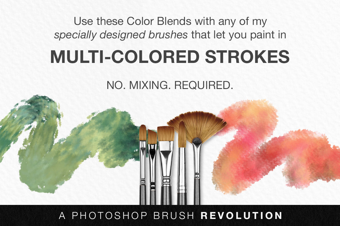 Colors of the Côte d'Azur Impressionist Photoshop Brush Color Palettes stroke preview