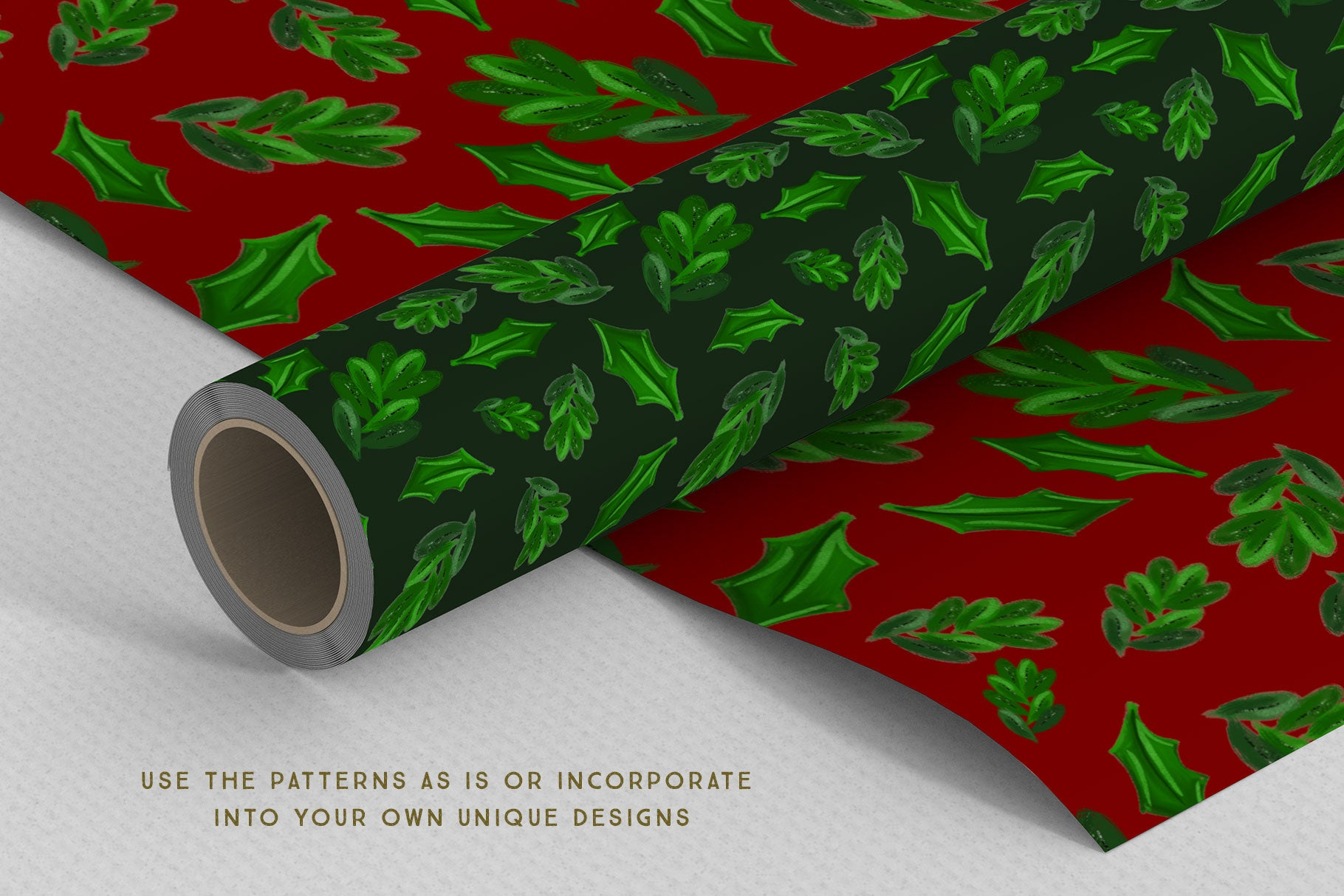Luxe Christmas & Holiday Greenery Alphabets: make holiday wrapping paper