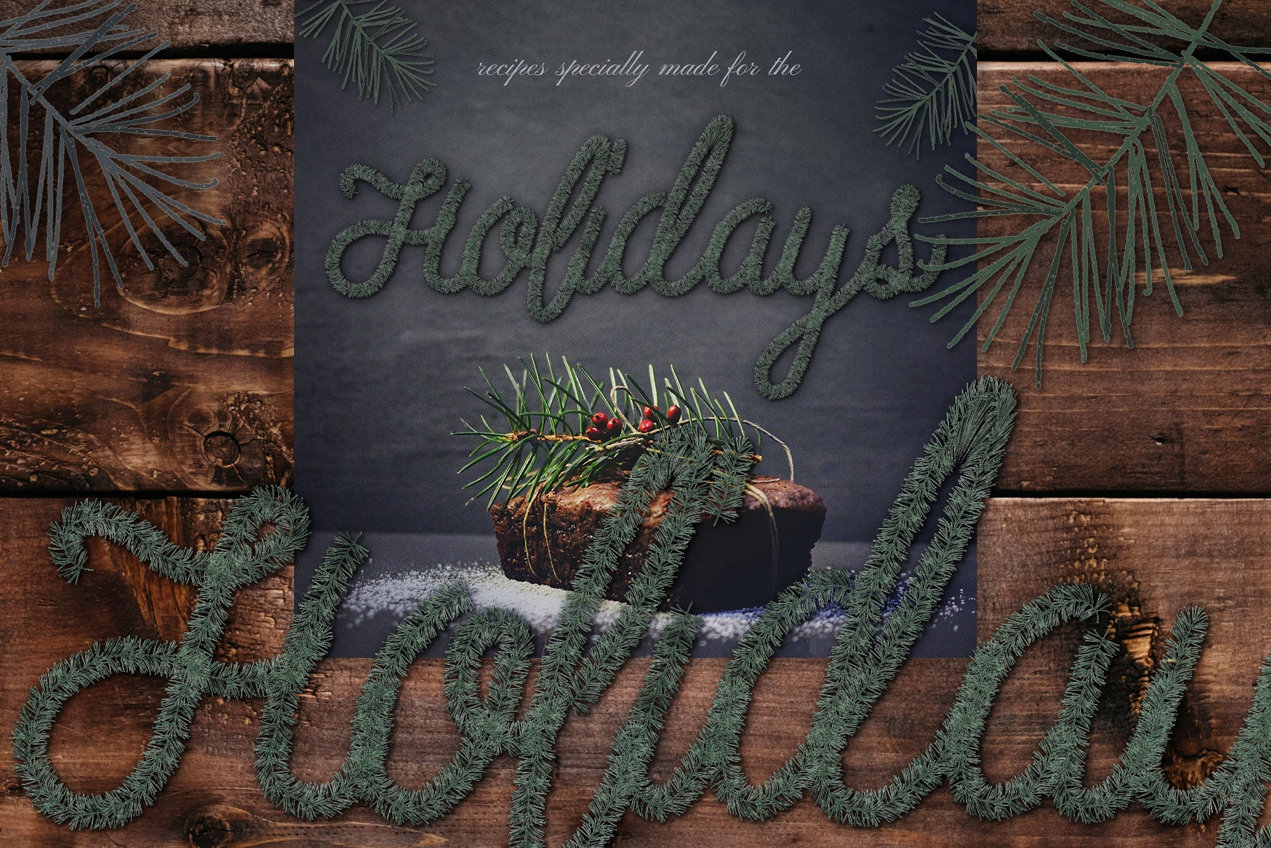 Luxe Christmas & Holiday Greenery Alphabets: holiday blog graphics