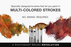 artistic multi-color photoshop brush strokes