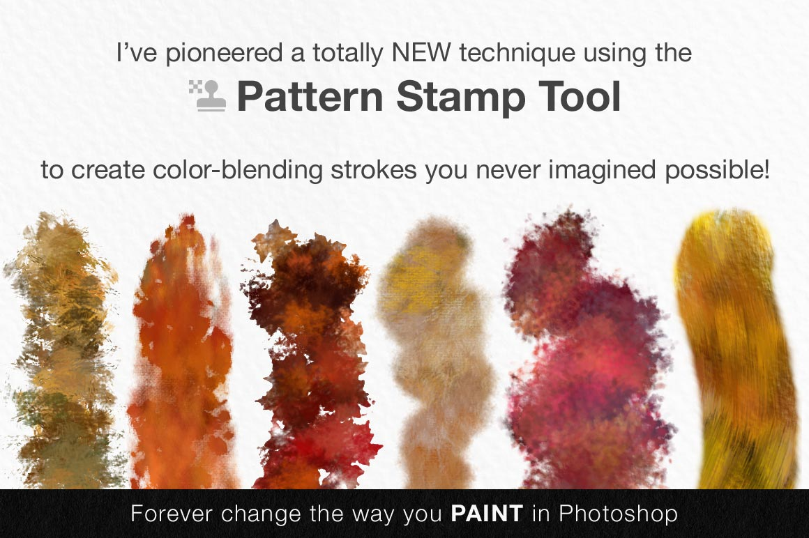 artistic color-blending photoshop brushes pattern stamp tool