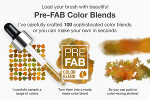 artistic color-blending photoshop brush color palette explainer