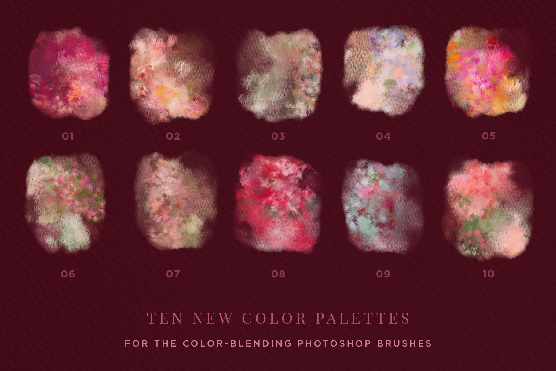 floral and lace wedding and feminine brushes for photoshop floral color palette