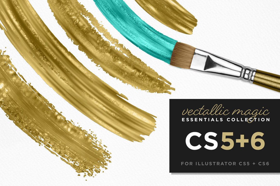Vectallic Magic CS5+ Illustrator Brushes: The Essentials Collection - Creators Couture