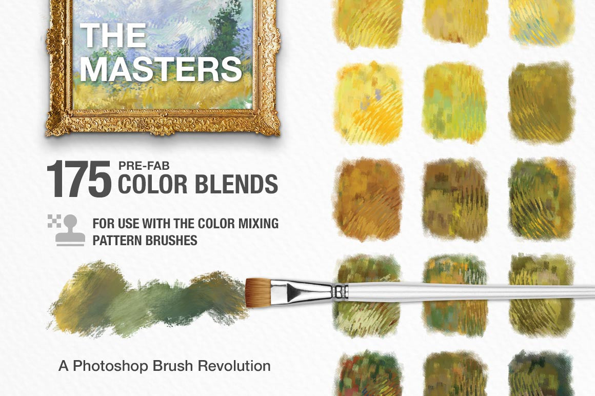 Impressionist Masters Color Blends Palette Collection & Photoshop Brush Sampler cover graphic