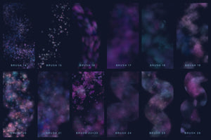 galaxy, starry brush chart 1