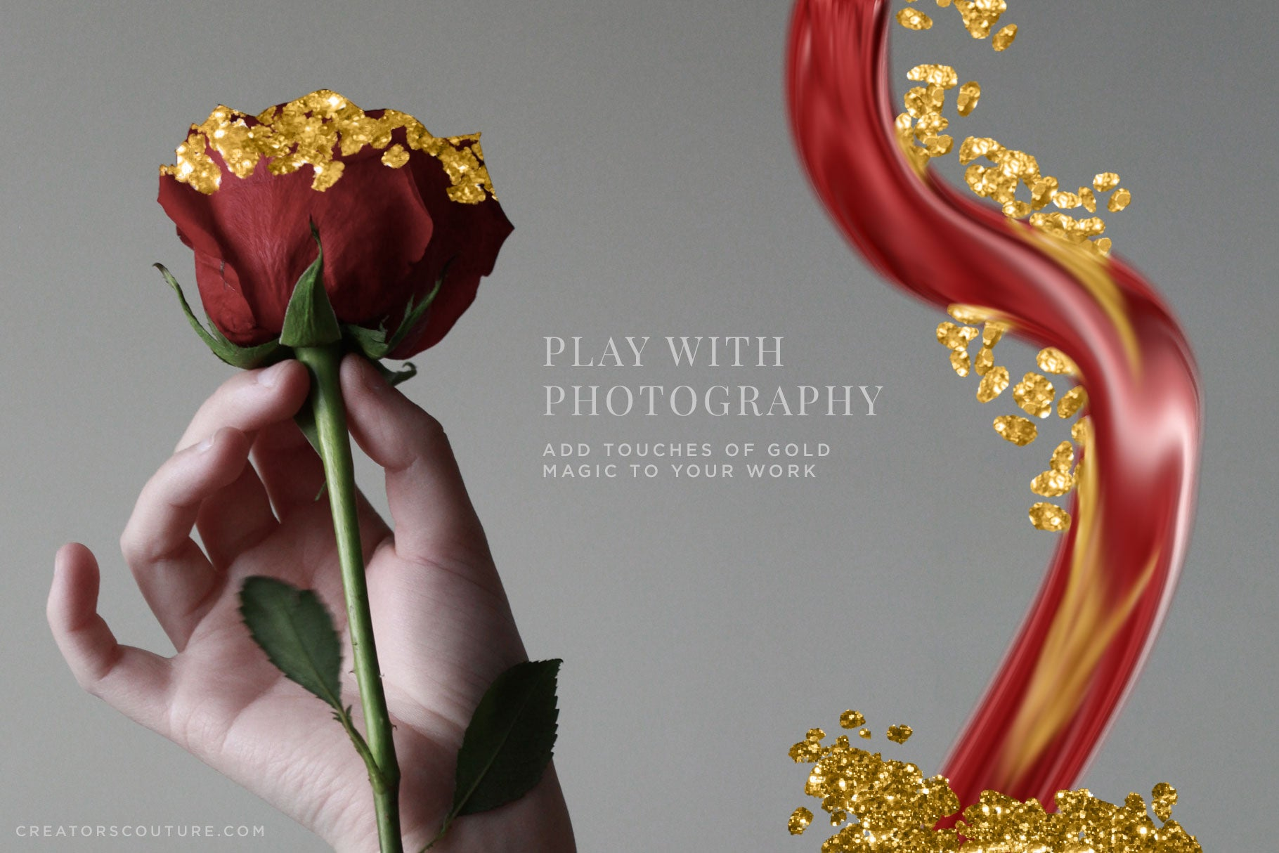 add gold touches to your photography with gold photoshop brushes