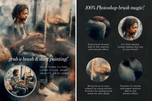impressionist painting effect photoshop brush studio, explaining brush features