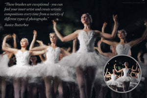 impressionist painting effect photoshop brush studio before and after ballet dancers