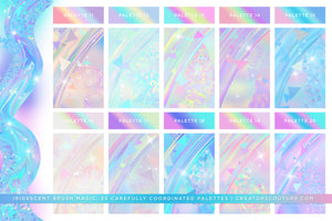 Iridescent & Holographic Photoshop Brushes, Color Palettes, & Effects brush preview 4