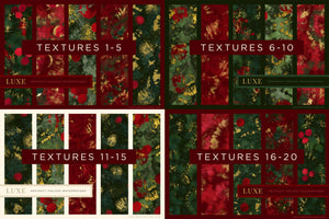 Luxe Christmas: Abstract Holiday Painted Backgrounds, reference chart