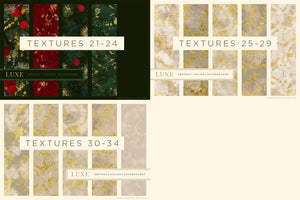 Luxe Christmas: Abstract Holiday Painted Backgrounds, reference chart 2