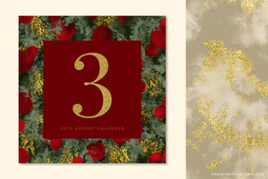 Luxe Christmas: Abstract Holiday Painted Backgrounds, advent calendar instagram post