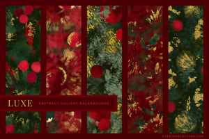 Luxe Christmas: Abstract Holiday Painted Backgrounds, previews 1
