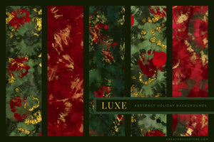 Luxe Christmas: Abstract Holiday Painted Backgrounds, previews 2