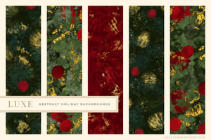 Luxe Christmas: Abstract Holiday Painted Backgrounds, previews 3