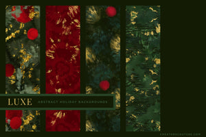 Luxe Christmas: Abstract Holiday Painted Backgrounds, previews 5