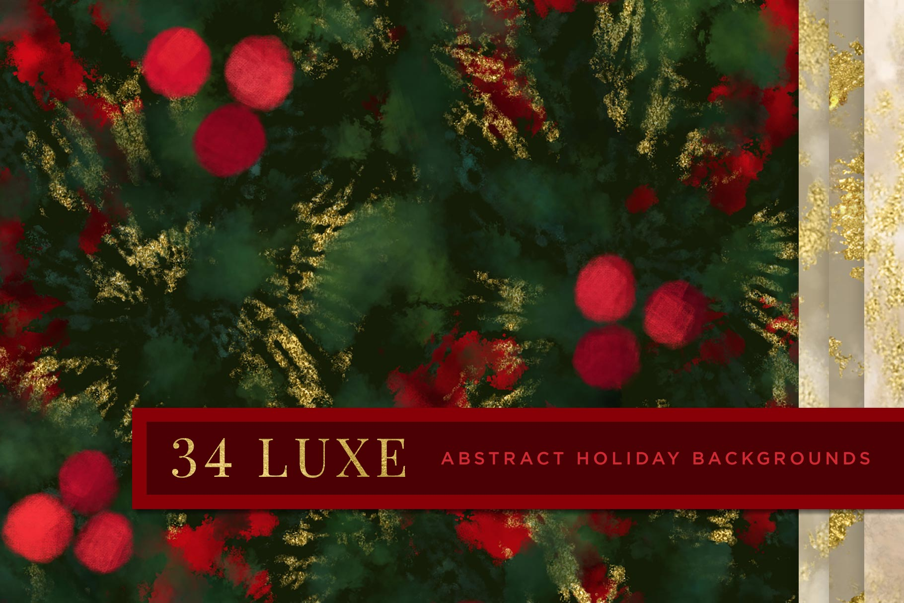 Luxe Christmas: Abstract Holiday Painted Backgrounds, cover image