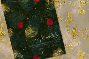 Luxe Christmas: Abstract Holiday Painted Backgrounds, holiday invitation design