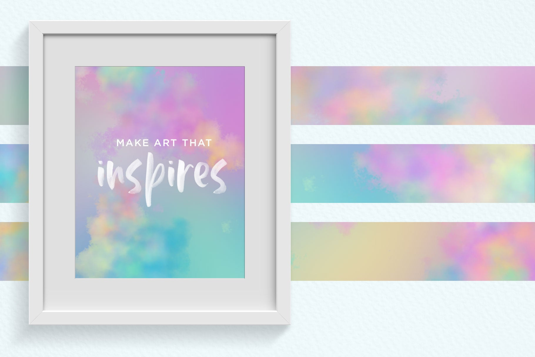 Pastel Watercolor Cloud Backgrounds Clipart - Creators Couture